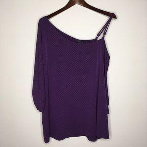 Torrid Purple & Gold Stud Off The Shoulder Top 1X